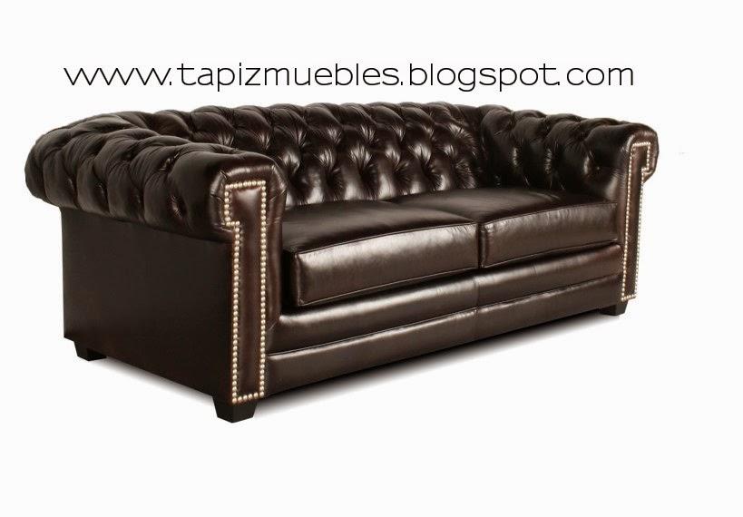 Tapizado de muebles sof s chesterfield tapizado retapizado for Tapizado de muebles