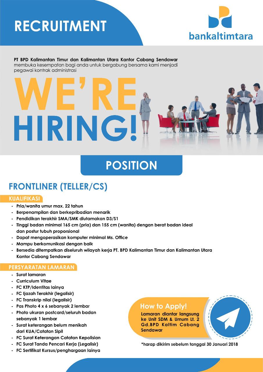Lowongan Kerja Bank Kaltimtara Januari 2018 Rekrutmen Dan Lowongan Kerja Bulan Februari 2021