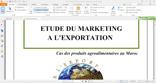 1253 - PFE: ETUDE DU MARKETING A L'EXPORTATION