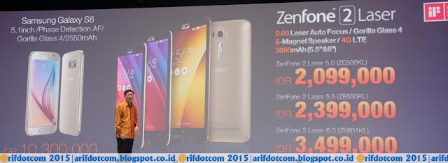 Zenfone 2Laser memiliki harga yang terjangkau