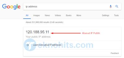Melihat IP Publik Laptop dari Search Engine Google