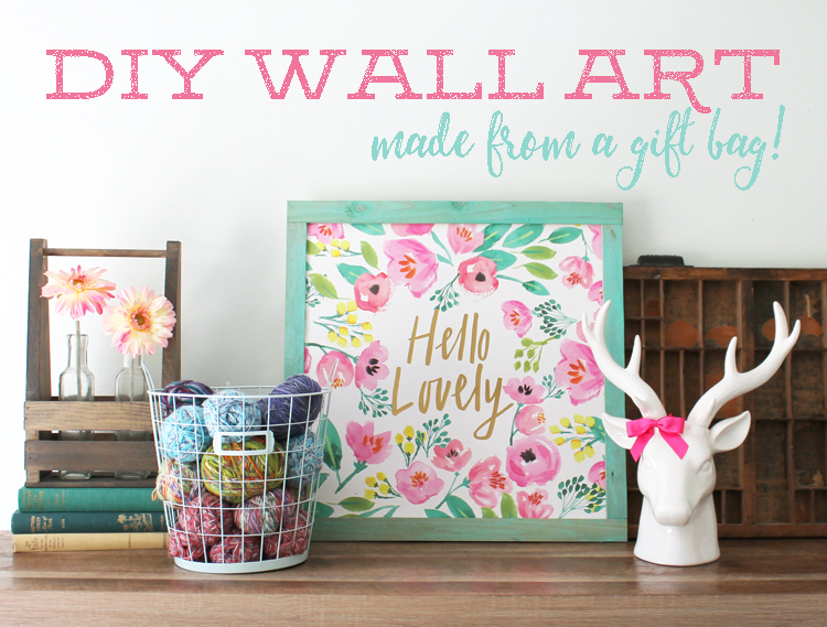 Wall Decor From Ross : The craft patch diy wall art from a gift bag