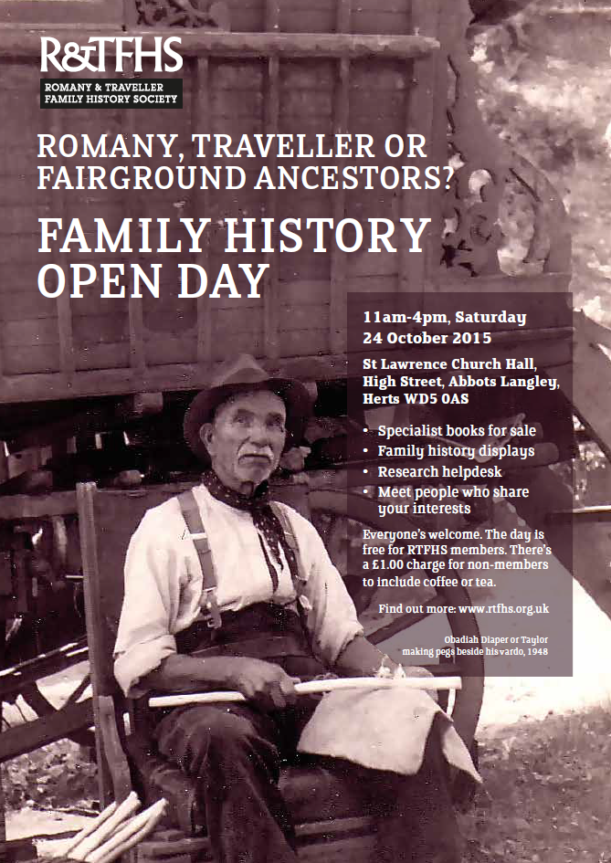 The GENES Blog: Romany and Traveller Family History Society Open Day