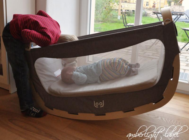 Werbung anzeige: die stylische babywiege von amazonas. lool