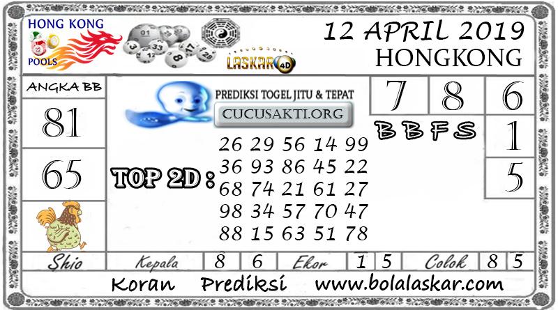Prediksi Togel HONGKONG LASKAR4D 12 APRIL 2019