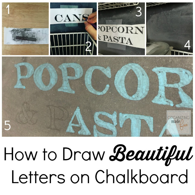 Tutorial: How to draw beautiful letters on a chalkboard :: OrganizingMadeFun.com