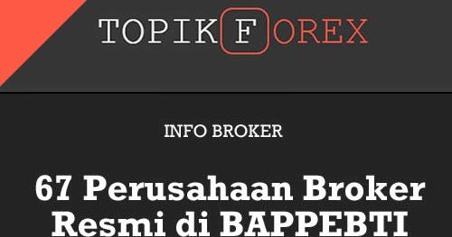 Daftar broker forex resmi di indonesia
