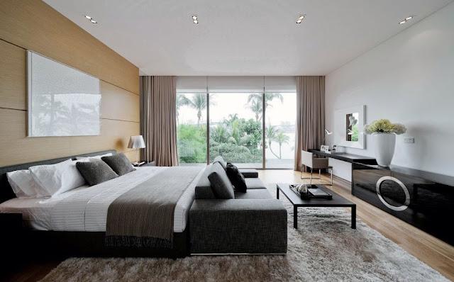 Chambre noir et blanc design - Deco noir et blanc chambre ...