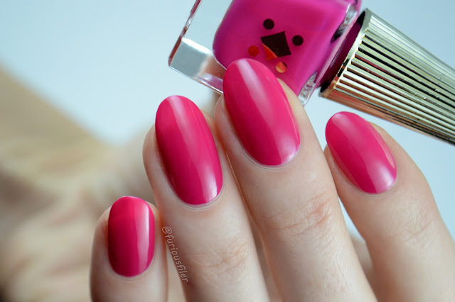Bright neon pink deco Miami swatch miley whats good