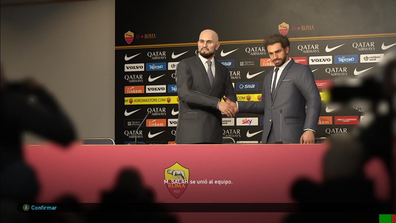PES 2019 AS Roma Press Room for EvoSwitcher by Ivankr Pulquero