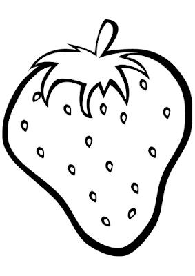 Gambar Mewarnai Buah Strawberry - 8