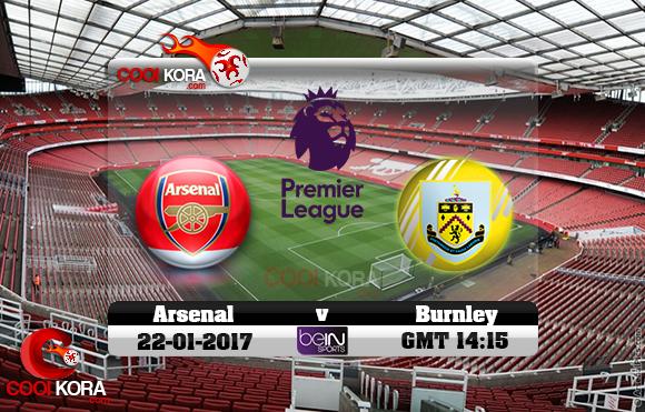 مشاهدة مباراة آرسنال وبيرنلي اليوم 22-1-2017 في الدوري الإنجليزي