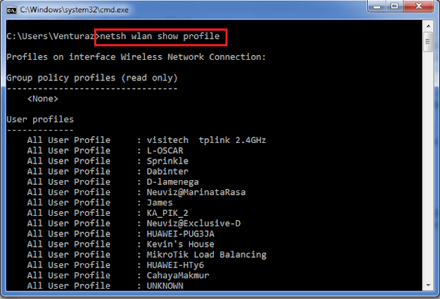 Cara Menghapus Profile Wi-Fi di Windows 8