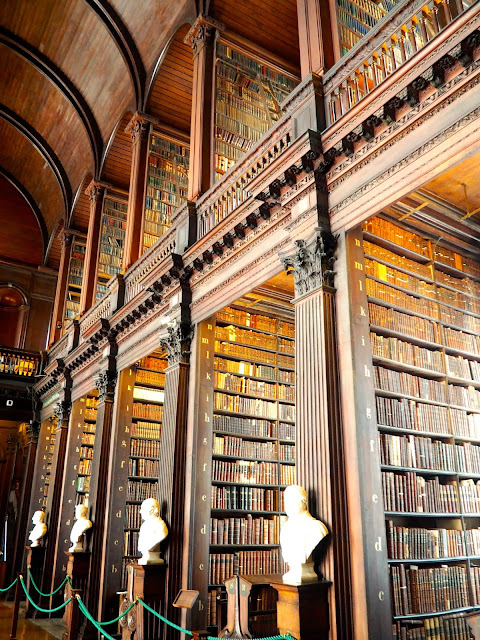 Long Room in Old Library, Trinity College, Dublin, Ireland