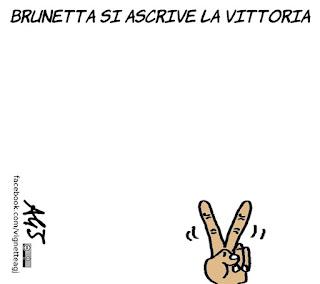 vittoria, no, io voto no, brunetta, referendum, vignetta, satira