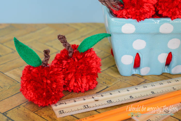 Pom Pom Apples for Teacher Gifts and More
