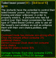 naruto castle defense 6.0 Tailed Beast Power detail