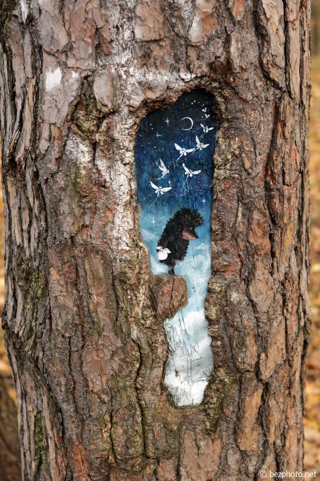 рисунки на деревьях евгения хлынина