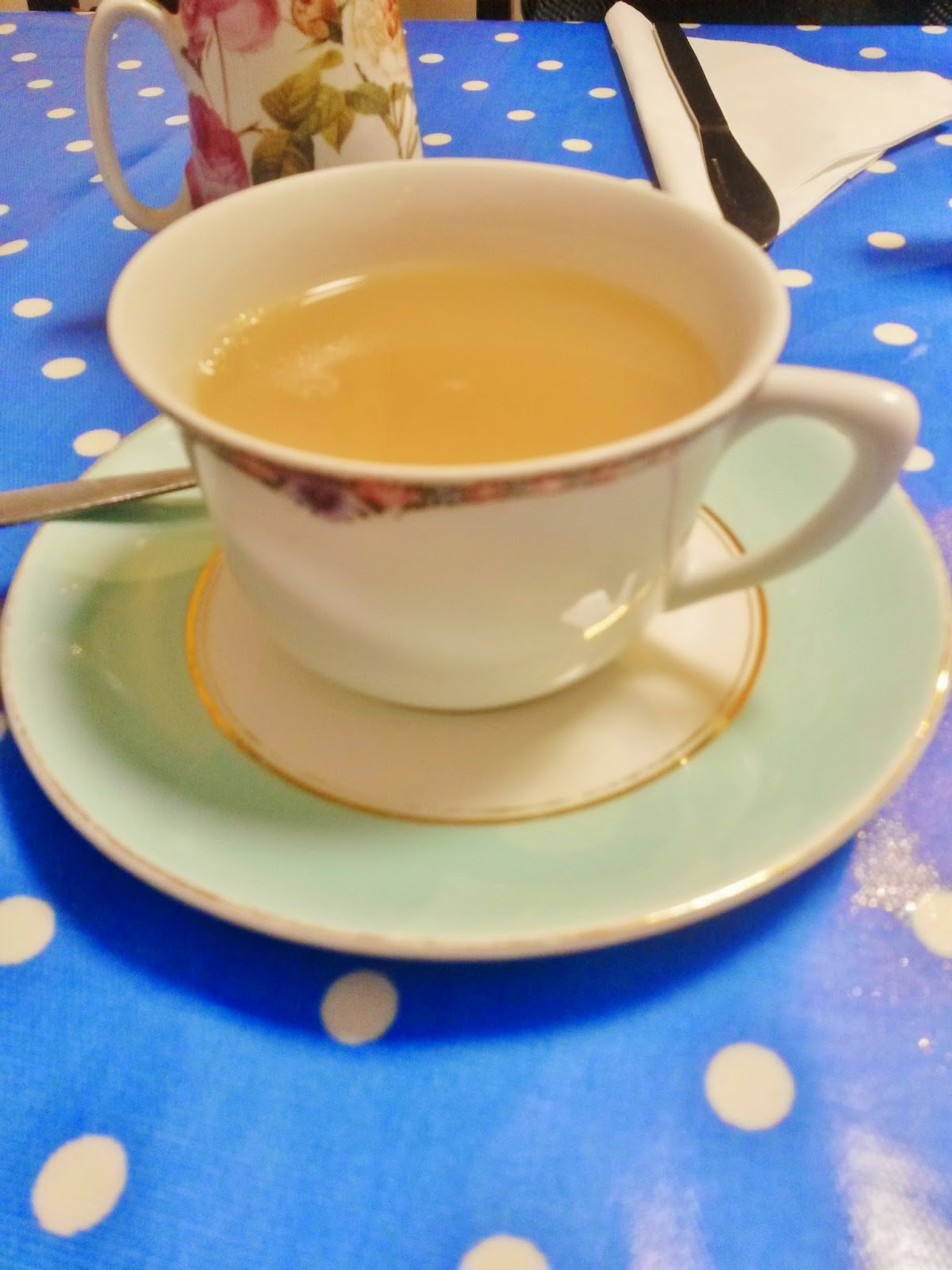 Tea cup and saucer for cream tea at Dolls House at Harrow on the Hill