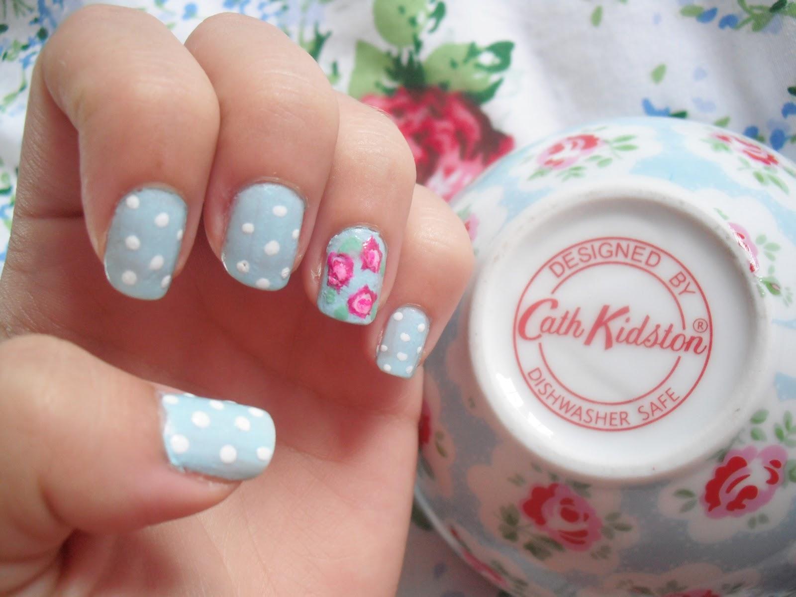 Cath Kidston Nails Floral Nail Art Victorias Vintage Blog