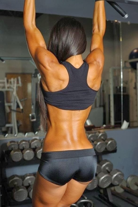 thinspiration fitspiration women doing chin ups