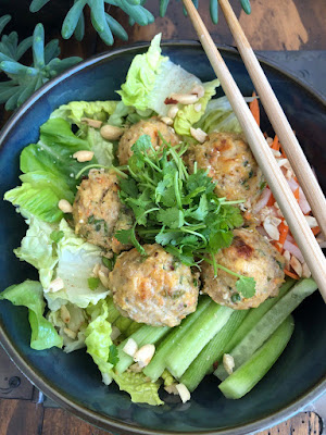 Recipe of chicken lemongrass meatballs from Cook with Lu