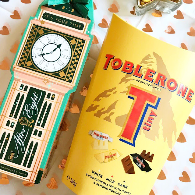 After Eight gift set and mini Toblerones