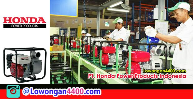 Lowongan Kerja Operator PT. Honda Power Products Indonesia Karawang
