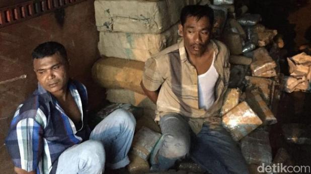 Sopir dan Kernet Bersama 1 Ton Ganja dari Aceh Ditangkap Polda Metro Jaya