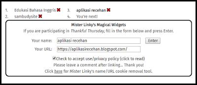 """MediaWeb4U-Hi sobat blogger semua, semoga dalam keadaan sehat-sehat saja ya, setelah kemarin saya shering tentang """"Teks Deskripsi"""" dan """"Teks Prosedur"""", Kali ini izinkanlah saya shering tentang Link Exchang, atau tukar link. Apa manfa'atnya tukar link? manfaat dari tukar link ialah untuk menaikan trafik blog kita, selain itu tukar link merupakan ajang silaturahmi sesama blogger. Oleh karena itu yuk kita tukar link dan membuat toolnya buat dipasang di blog kita, biar silaturahminya terjalin dan trafiknya naik.....Amin. Jadi, untuk menaikan trafik blog itu bukan hanya dengan blogwalking, submit artikel ke google console, dst....melainkan juga dengan tukar link. baiklah, jika sobat ingin bertukar link dengan blog ku silahkan sobat isi form diatas, NAma blog sobat dan email blog sobat, lalu klik ENTER. selesai deh, nanti nama blog sobat tersebut berisi tautan/ link blog sobat ktika di klik.        Ok, jika sobat ingin membuat dan memasang Tool tukar Link nya, silahkan disimak tutorialnya dibawah ini....   Pertama masuk ke Blenza.  Klik """"Register"""" dan isikan data-data Anda dengan lengkap dan masukan alamat URL blog Anda.  Lalu Anda akan diminta untuk memasukkan kode konfirmasi yang dikirimkan ke email Anda.  Setelah itu anda login di Blenza dengan akun yang tadi sudah Anda buat.  Klik """"wizard""""  Pilih step 1 Choose your server : servernya """"Blogger"""" dan step 2 Choose your widget : widgetnya """"Original Auto-Linkies"""", lalu klik """"Generate code"""".  Setelah itu Anda akan mendapatkan kode scriptnya.  Lalu copy kode script tersebut ke akun blogger Anda, caranya login ke blogger  --> Klik """"Layout""""  --> Klik """"Add a Gadget""""  --> Pilih """"HTML / JavaScript"""" dan pastekan kode dari blenza di situ.  Klik """"Save"""".    Sekarang widget tukar link otomatis Anda sudah Ready. Silahkan dicoba.  Di bawah ini adalah contoh widget tukar link yang sudah jadi, silakan pasang link Anda gratis.    Note :  Jika link Anda sudah terpasang jangan lupa sob tuk berkomentar, Insya Allah saya akan back....."""