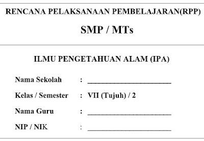 RPP Kurikulum 2013 IPA Kelas VII (7) Semester 2 SMP/MTs-http://www.librarypendidikan.com/