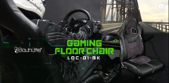 Bauhutte Gaming Chair LOC-01-BK