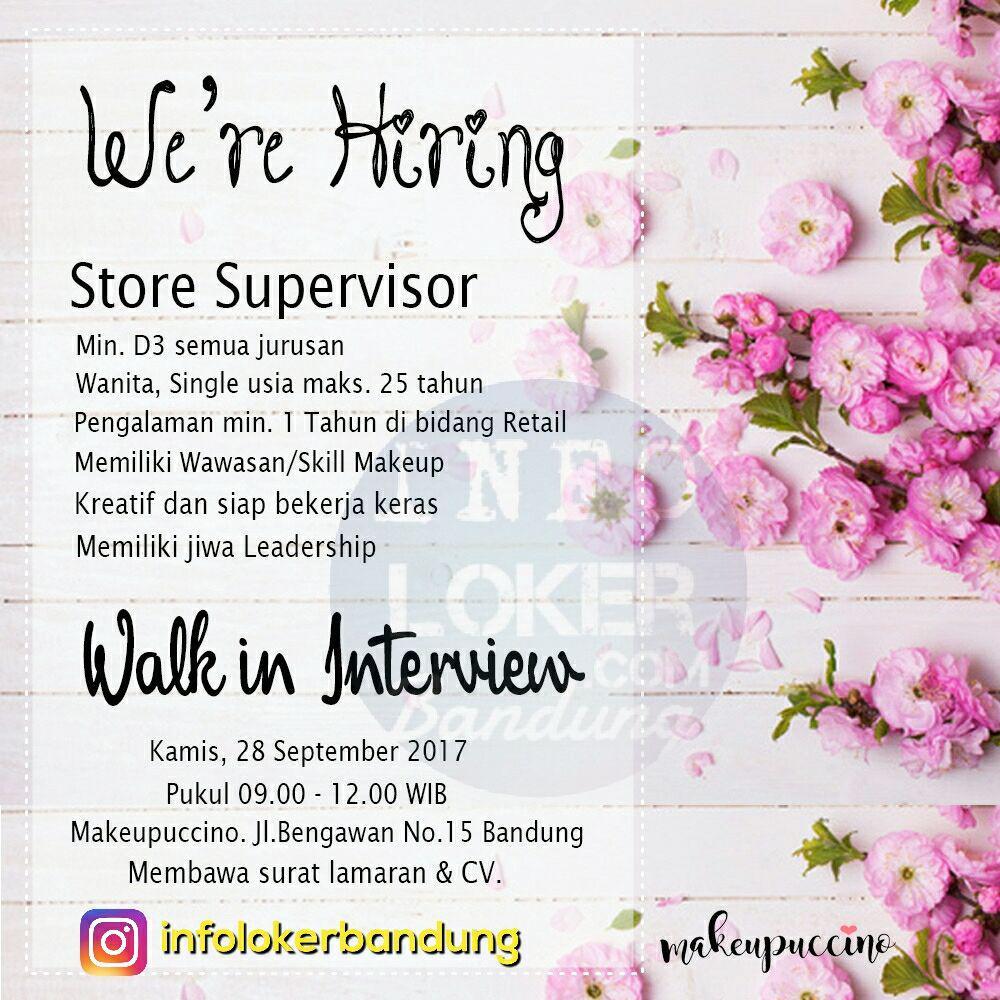 Lowongan Kerja Makeupuccino ( Walk In Interview ) September 2017