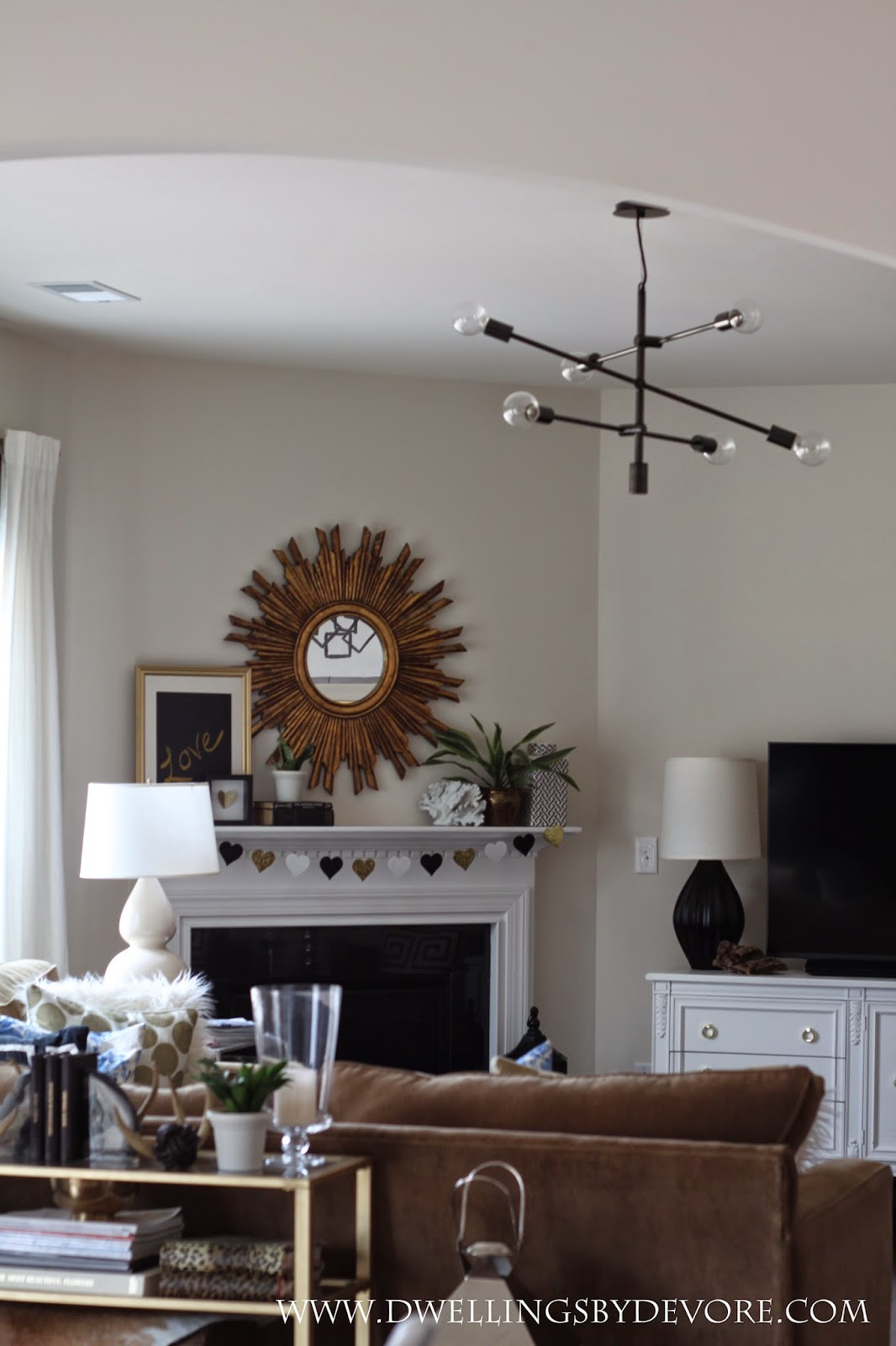 Hanging Light Fixtures Living Room Large With Corner Fireplace Dwellings By Devore: Choosing Lighting For Open Floor Plans