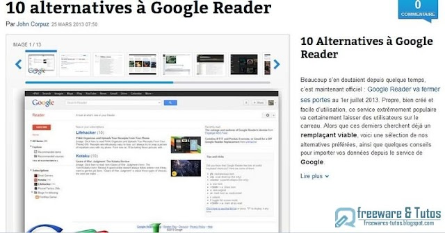 Le site du jour : 10 alternatives à Google Reader