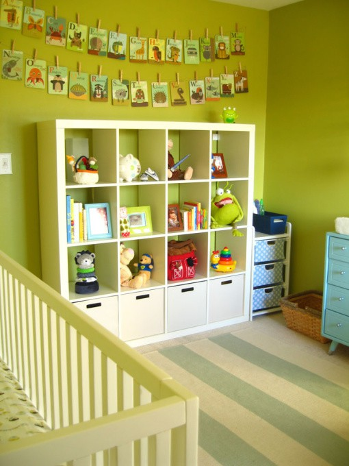 Genius Idea Ikea Expedit Shelves With Baskets For Storage: Kaleidoscope: Baby Pickle's Room