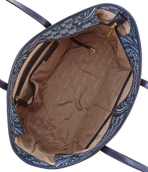 592a3387b7b6c8 Michael Kors Studio Emry Large Heritage Paisley Tote Retail Price: USD378.  Price: RM2160. Colour: Luggage, Black, Navy