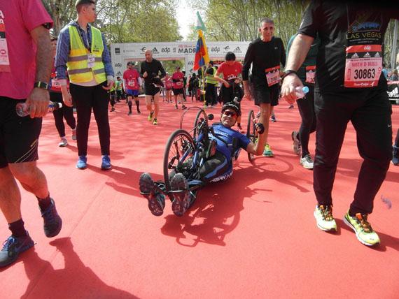 handbike en la maraton de madrid 2018