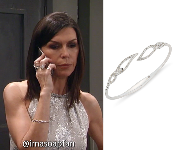 Anna Devane, Finola Hughes, Pave Leaf Open Bangle, Danori, Nurses Ball, GH, General Hospital