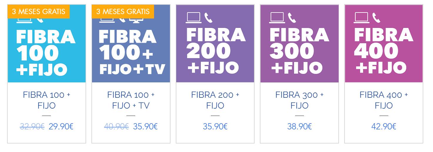 Tarifas con fibra y fijo Vallecas Telecom