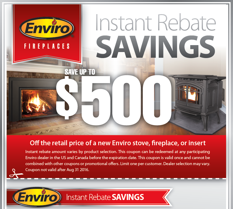 Save up to $500 OFF the retail price of a new Enviro stove, fireplace or  insert. Redeem this coupon at Nordic Stove Shoppe! - Nordic Stove Shoppe Dover, NH Wood Stoves, Pellet Stoves