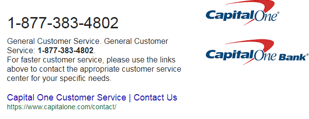 Capital One Phone Number