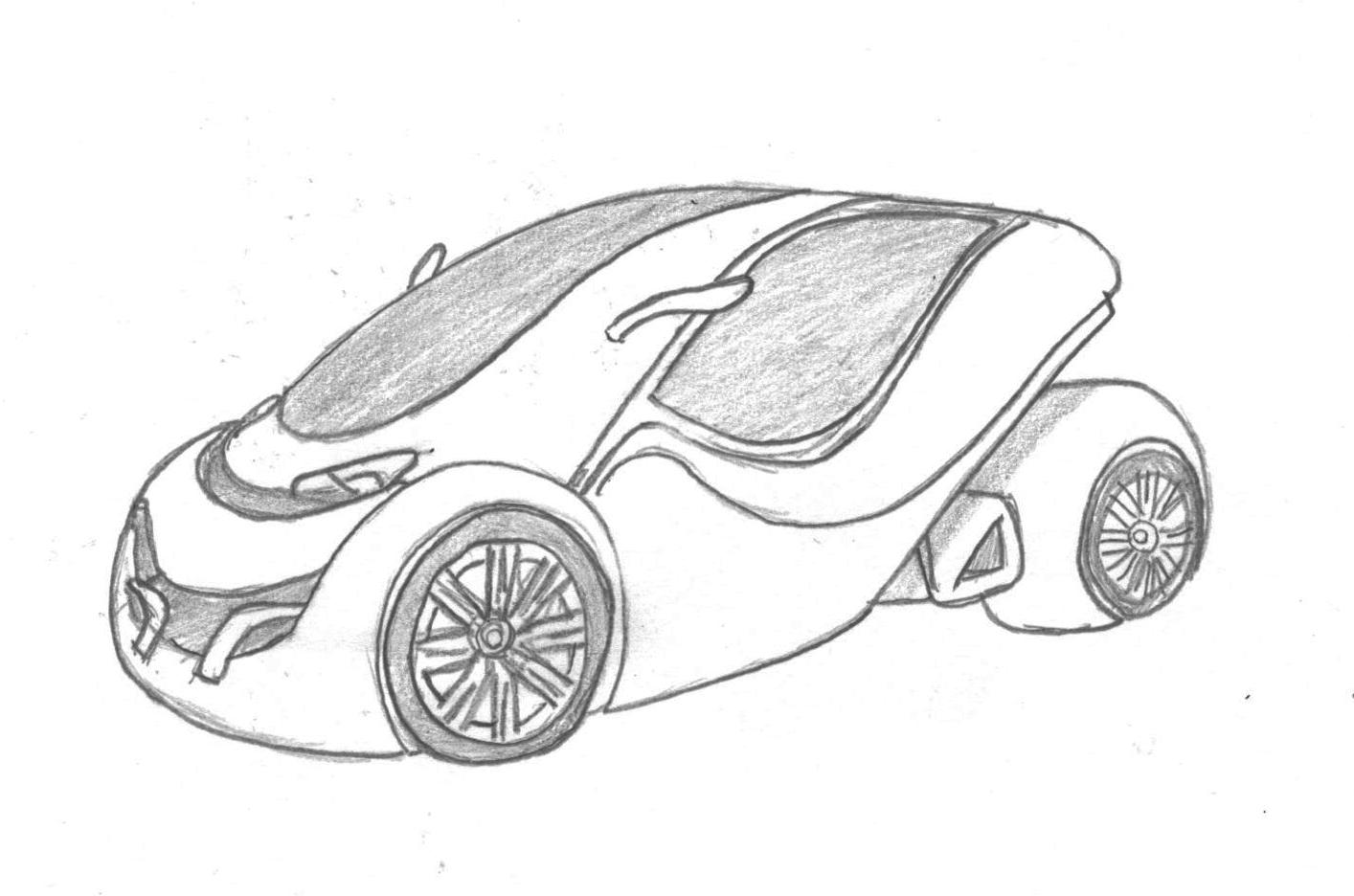Simple Car Drawing Drawings
