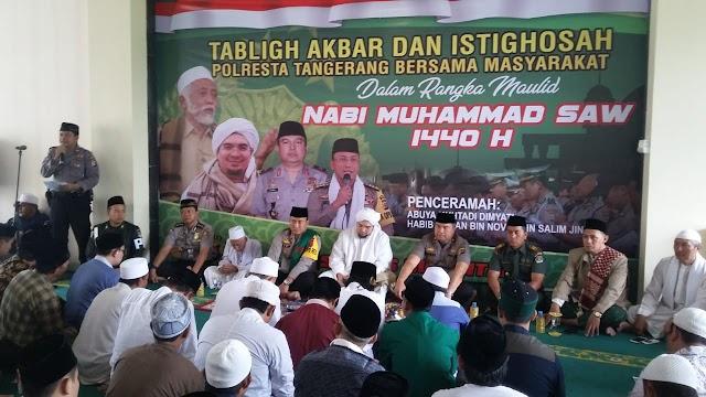 Mesjid At-Taqwa di Padati Ribuan Jama'ah  Tablig Akbar  yang di gelar Polresta Tangerang