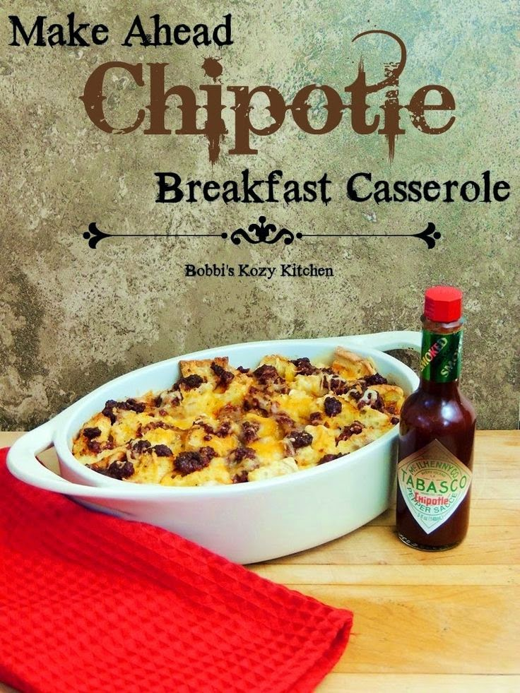 Make Ahead Chipotle Breakfast Casserole