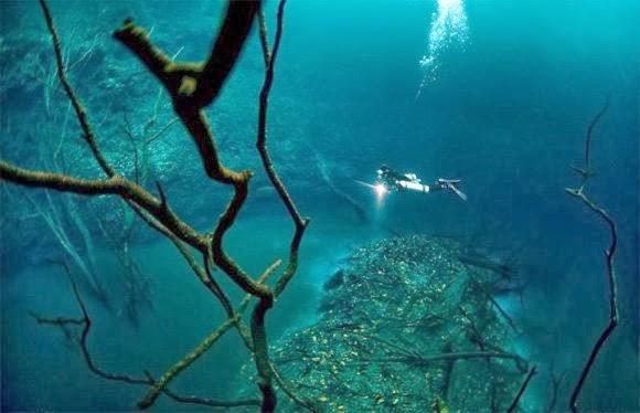 Deniz'in altından giden nehir resimleri