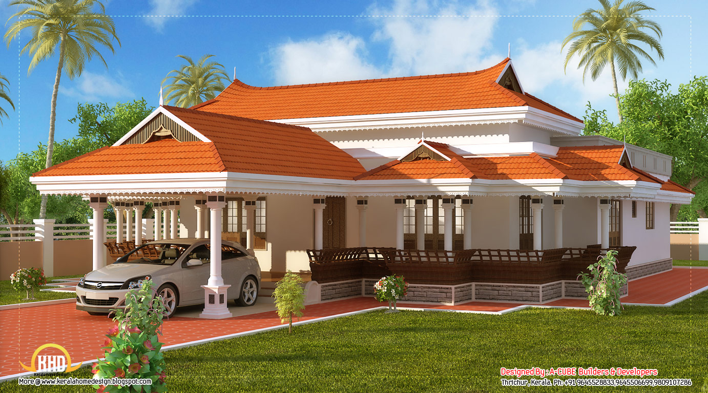 Kerala House Front Elevation Models : Kerala model house design sq ft home appliance