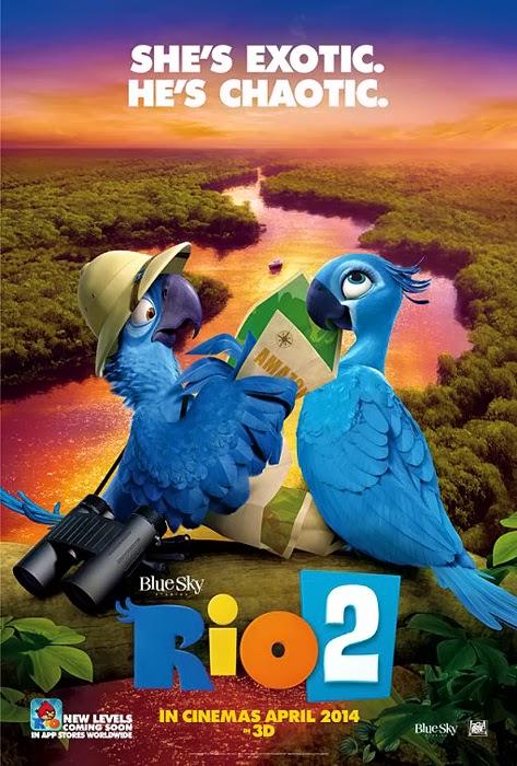 Poster oficial Rio 2 - Blu şi Jewel