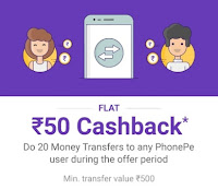 phonepe cashback offer today only