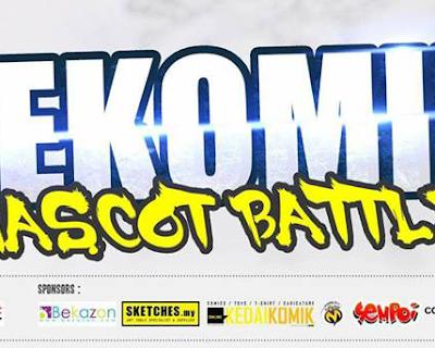 Sertai PeKOMIK Mascot Battle! Dan Menangi Pelbagai Hadiah Yang Menarik